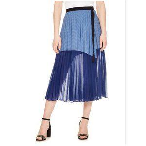 Sandro Mix Media Skirt In Blue